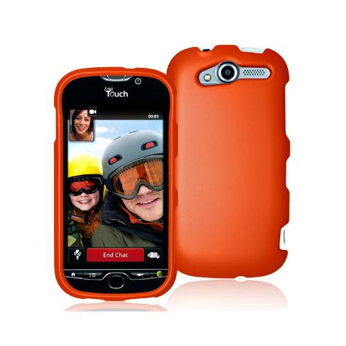 Orange Snap-On Hard Case Cover for HTC Mytouch 4G