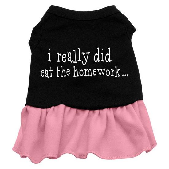 Image of Mirage 57-47 XXLBKPK I Really Did Eat The Homework Dog Dress Black w/Pink 2XL