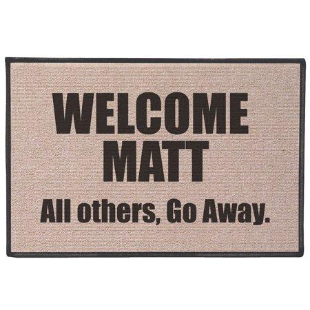 Mutt Mat - Welcome Matt Funny Quirky Humorous Doormat - Fits Standard Doorway - 27