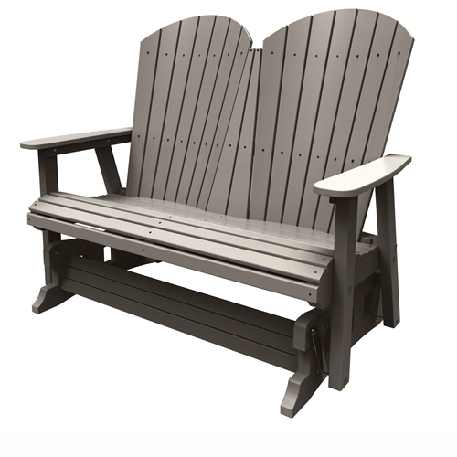 Double Glider by Malibu Outdoor - Hyannis, Weathered Wood