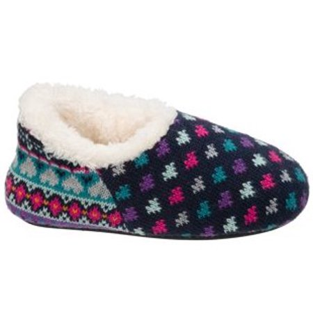DF by Dearfoams Girls' Sweater Knit Shootie Slippers (Glass Slippers For Girls)