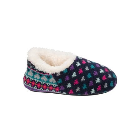 DF by Dearfoams Girls' Sweater Knit Shootie Slippers - Girls Glass Slippers