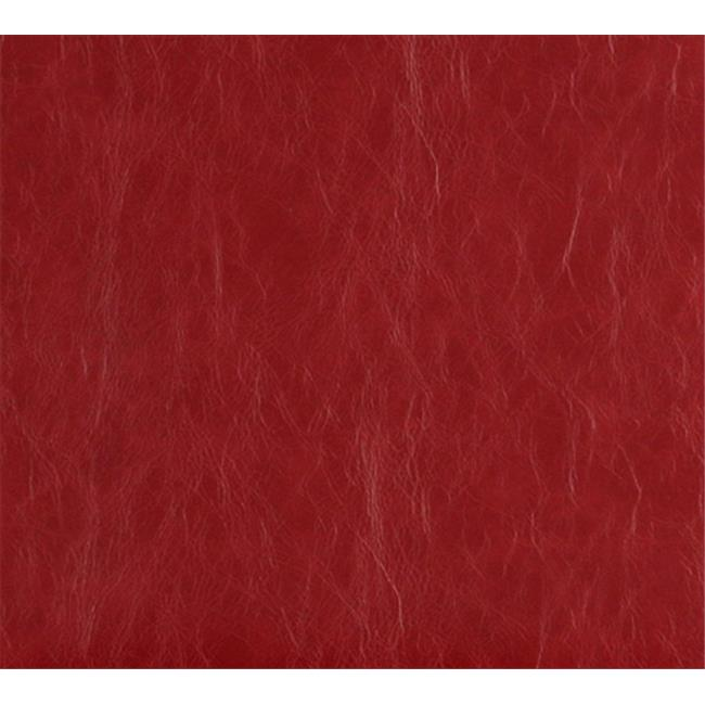 Designer Fabrics G626 54 in. Wide Red, Distressed Leather Upholstery Grade Recycled Leather
