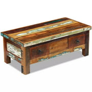 "Coffee Table Drawers Solid Reclaimed Wood 35.4""x17.7""x13.8"""