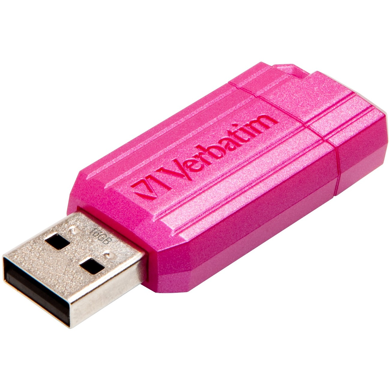 Verbatim 16GB PinStripe USB Flash Drive - Hot Pink (49067)