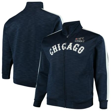 Chicago White Sox Big & Tall Streak Fleece Cooperstown Full Zip Jacket - Navy/White