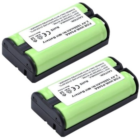 2 Pack 1600mAh Cordless Telephone Replacement Battery for Panasonic HHR-P546A Compatible for AT&T 5800 5830 5840