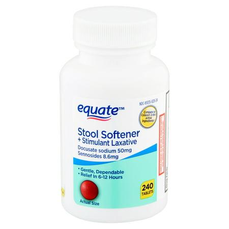 Equate Stool Softener + Stimulant Laxative Tablets, 240