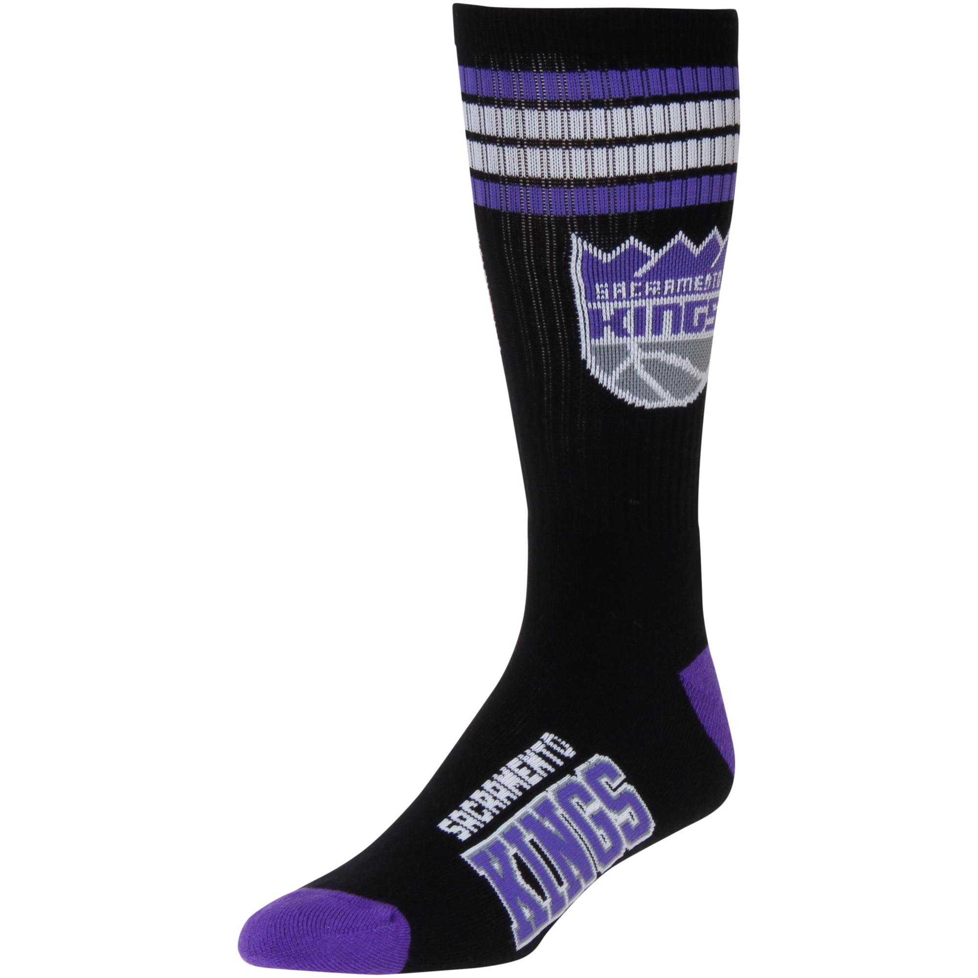 Sacramento Kings For Bare Feet 4-Stripe Deuce Shin Socks - Men 10-13