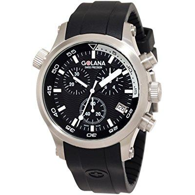 Golana swiss men's aq300-1 aqua pro 300 stainless steel w...