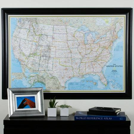 Craig Frames Wayfarer Classic United States Push Pin Travel Map
