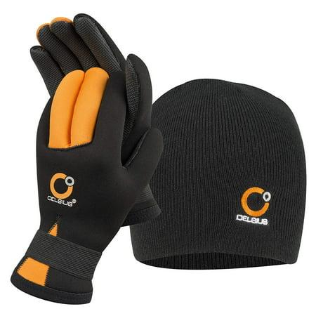 Neoprene Canoe - Celsius Deluxe Neoprene Large NG-HAT/L Glove/Hat Combo Waterproof/Velcro Wrist