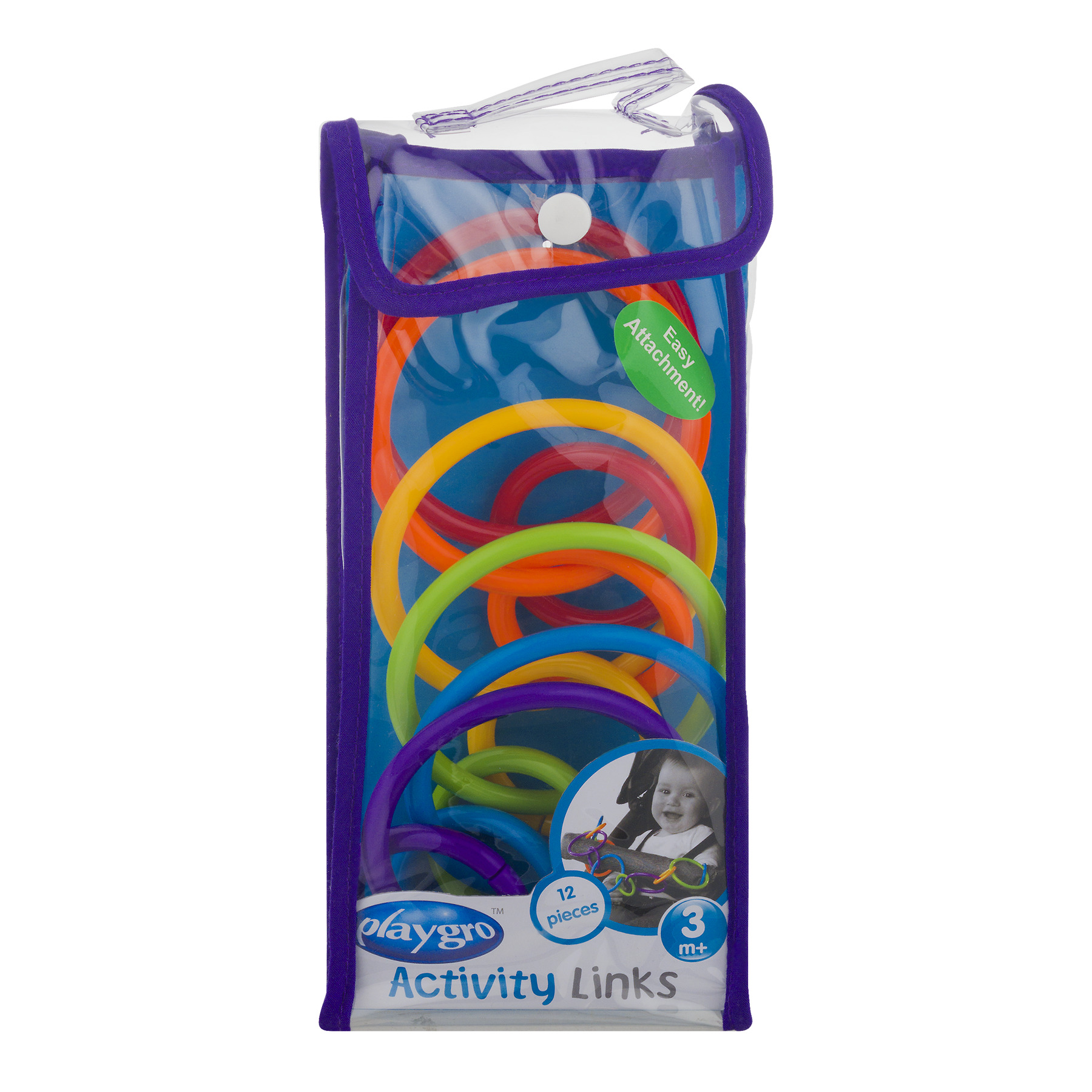 Playgro Activity Links 3m+ - 12 PC, 12.0 PIECE(S)