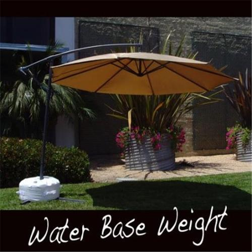 Offset Umbrella Base Stand Weight - Works Also for Market Umbrella (WHITE)