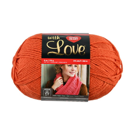 Red Heart With Love Tiger Lily Yarn, 1 Each