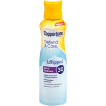 Sunscreen & Tanning: Coppertone Defend & Care Whipped