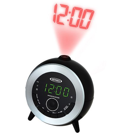 jensen dual alarm projection clock radio. Black Bedroom Furniture Sets. Home Design Ideas