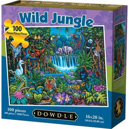 Dowdle Jigsaw Puzzle - Wild Jungle - 100 Piece