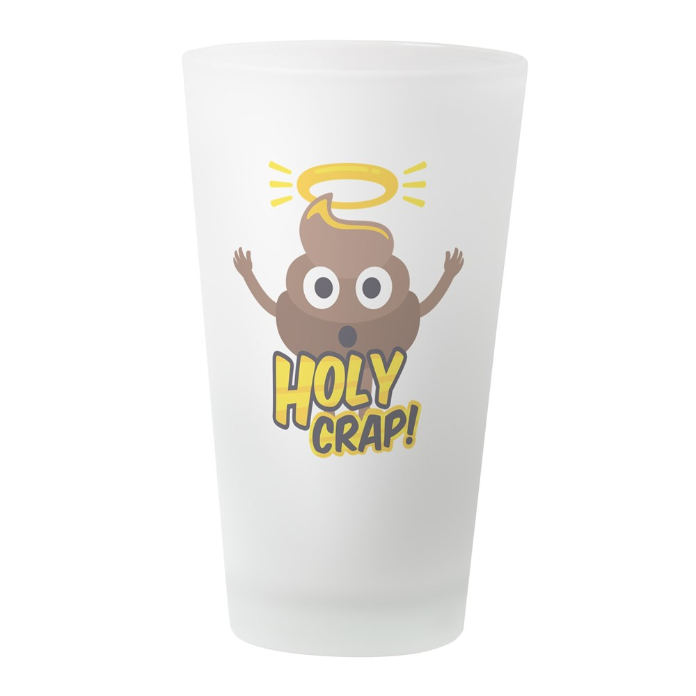CafePress Holy Crap! Pint Glass, Drinking Glass, 16 oz. CafePress by
