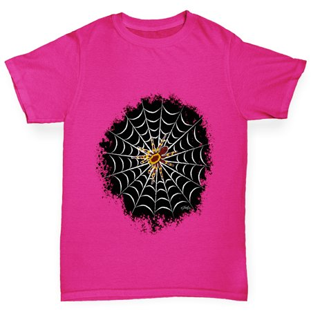 Girl's T-Shirt Creepy Tarantula Girls Funny T Shirt - Funny And Creepy