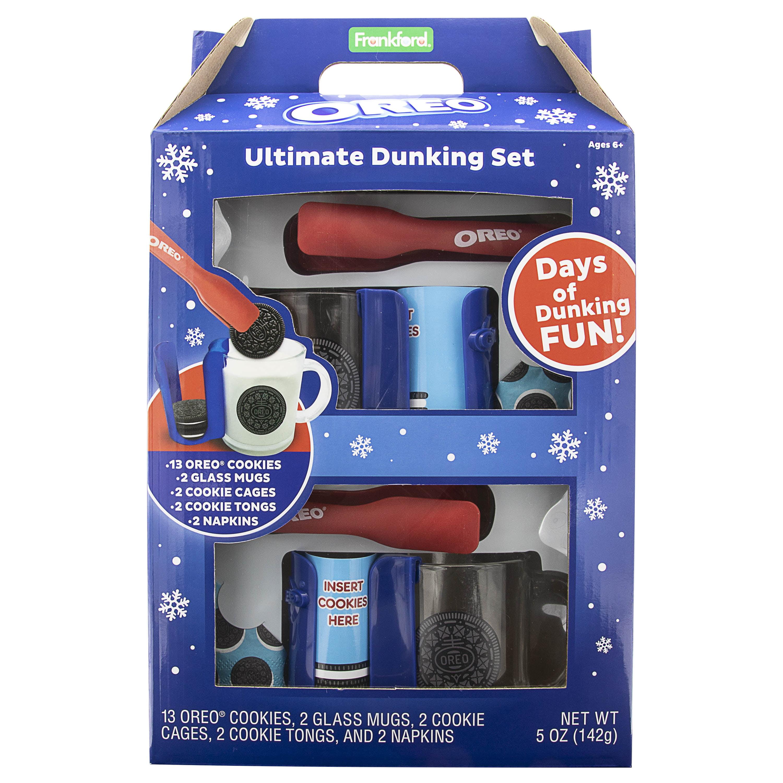 New Oreo Ultimate Dunking Set Mug Cookie Cage Tong Napkin Kit Gift Set Frankford