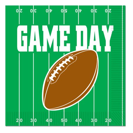 Beistle Game Day Football Night 6 5  2 Ply Party Napkins   Pack Of 16