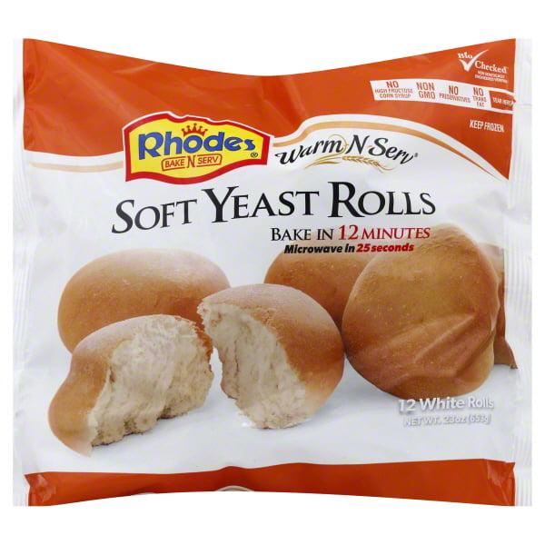 Rhodes Bake N Serv Rhodes Warm N Serv Rolls 12 Ea Walmart Com