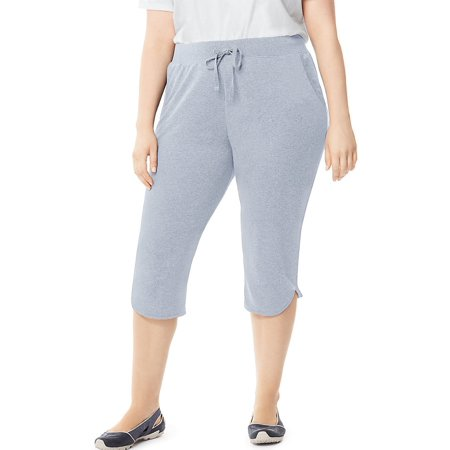 9588dca123fe Just My Size - Just My Size Women's Plus-Size French Terry Dolphin-Hem  Pocket Capri Pants, Color: Silverstone Heather, Size: 2XL (Just My Size) -  Walmart. ...