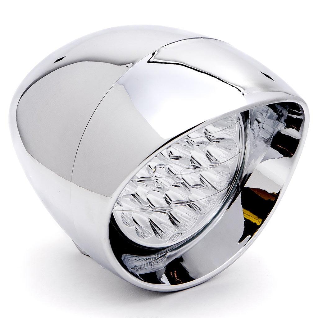 "Krator 7"" Chrome LED Headlight Cruiser Daytime Running and Low Beam for Kawasaki VN Vulcan Classic Nomad Drifter 1500 - image 6 de 6"