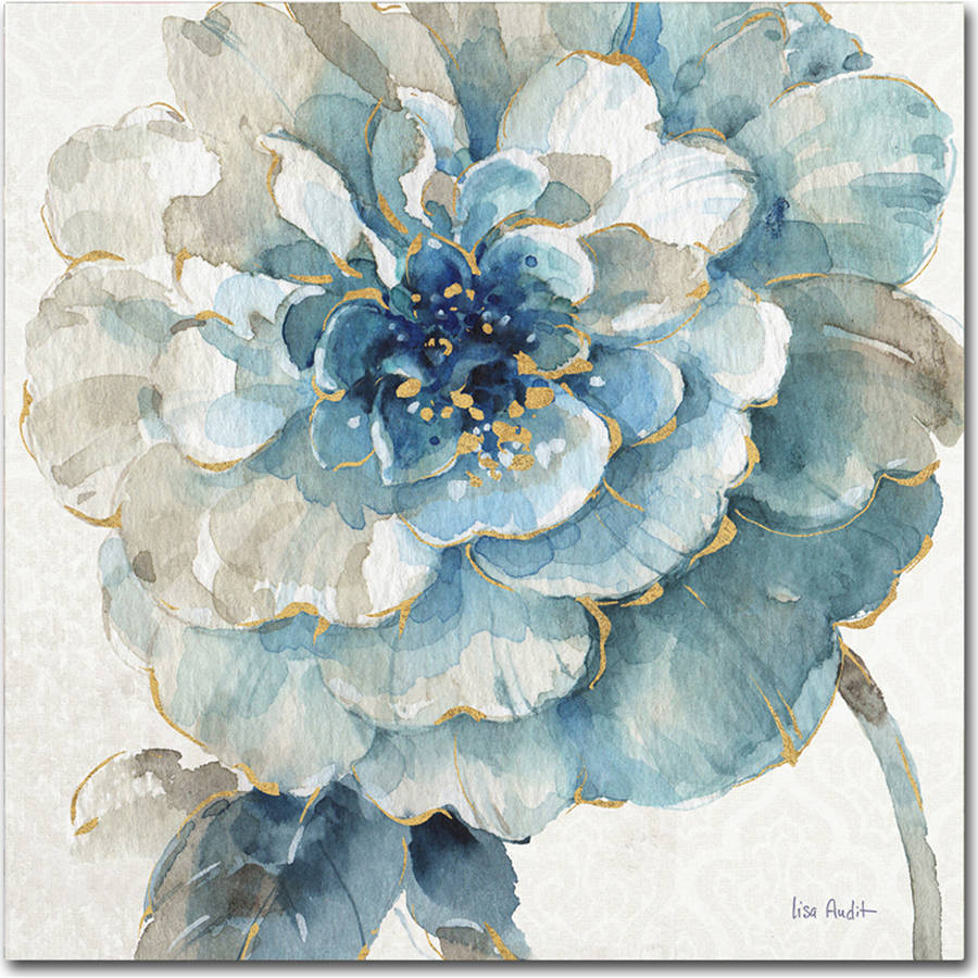"Trademark Fine Art ""Indigold VII"" Canvas Art by Lisa Audit"