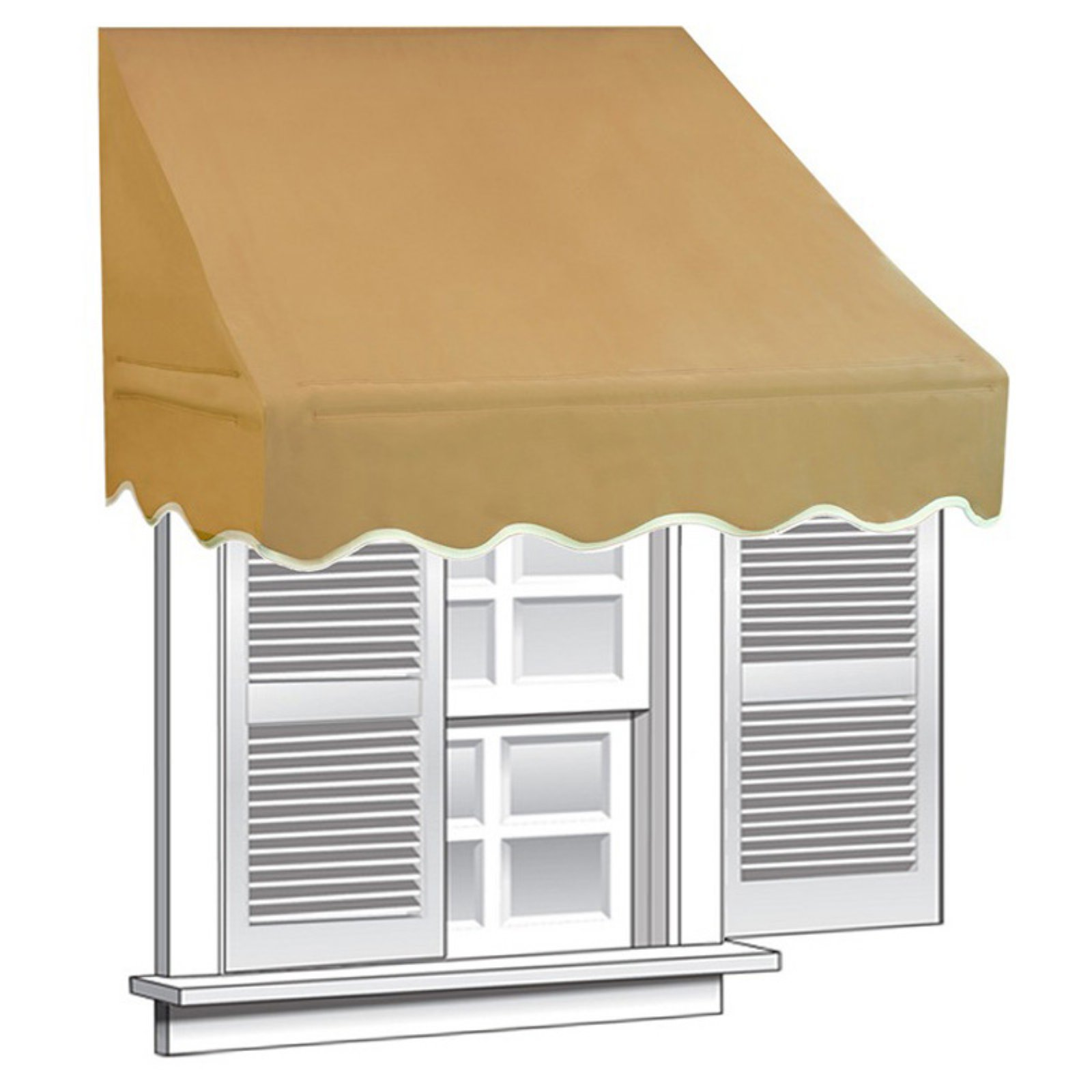 ALEKO 8'x2' Window Awning Door Canopy (16 sq. ft Coverage), Sand Color
