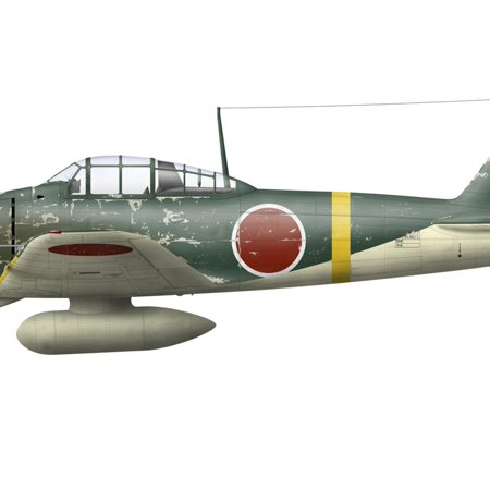 Illustration of a Mitsubishi A6M2 Zero Fighter Plane Print Wall Art By Stocktrek Images