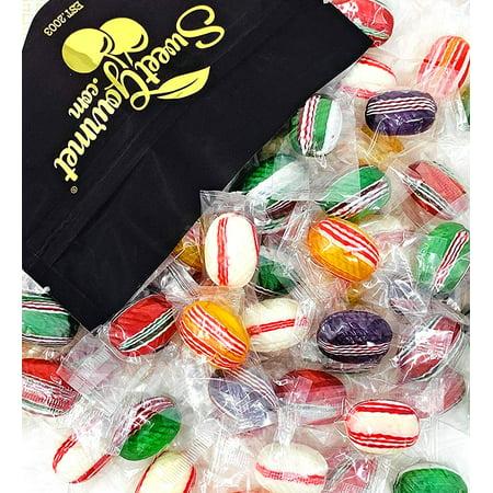 SweetGourmet Fancy Filled Ovals Christmas Hard Candy | Wrapped Bulk | 2 Pounds Hard Candy Basket