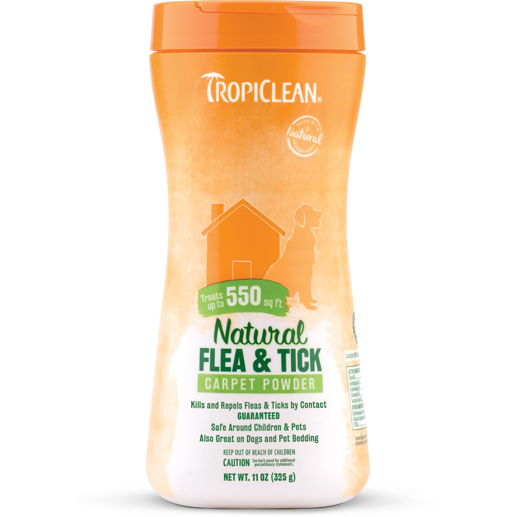 TropiClean Natural Flea & Tick Carpet Powder, 11 Oz