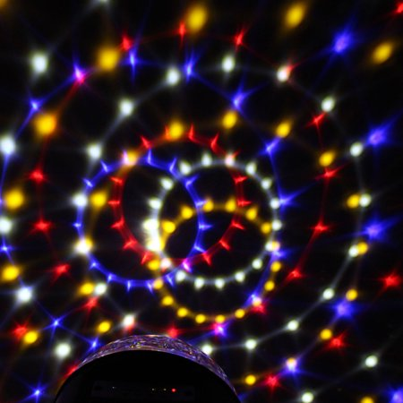 Disco MP3 bluetooth Stage Lighting LED RGB Crystal Magic Ball Effect Remote - image 3 of 8