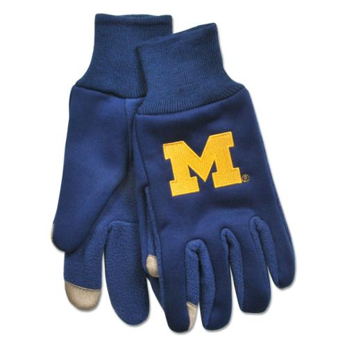 Mcarthur MCA-A1724612 Michigan Wolverines Ncaa Technology Gloves [pair]