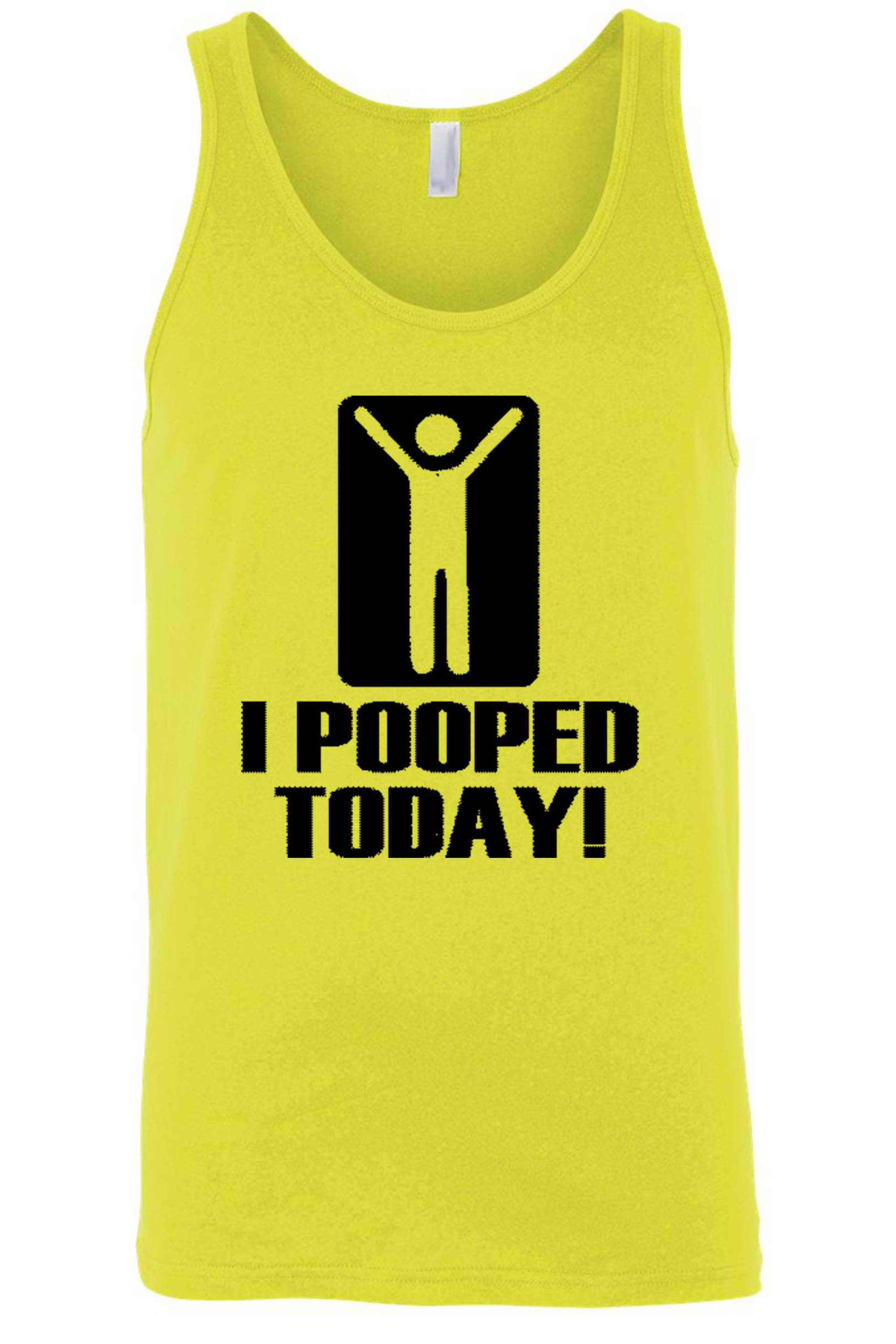 Men's Funny I Pooped Today! Tank Top Shirt