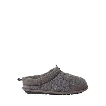 DF by Dearfoams Men's Quilted Clog Slippers