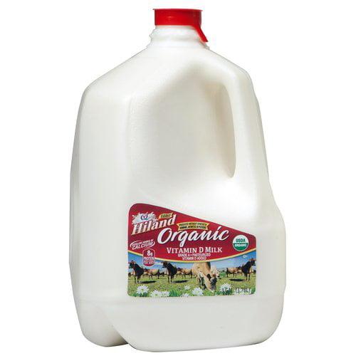 Hiland Organic Vitamin D Whole Milk, 1 Gallon
