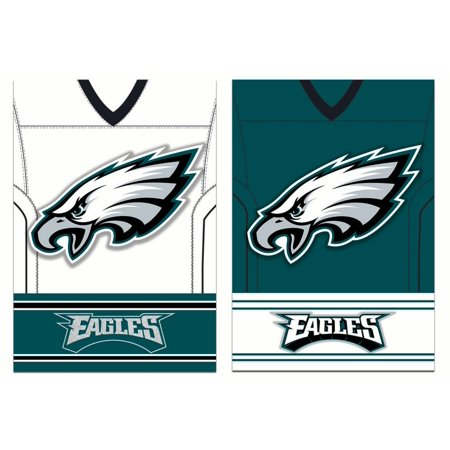 - Team Sports America Philadelphia Eagles Double Sided Jersey Suede Garden Flag, 12.5 x 18 inches