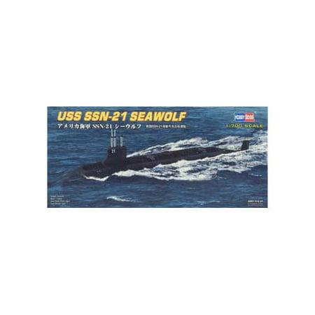 Uss Alabama Submarine (87003 1/700 USS SSN-21 Seawolf Attack Submarine Multi-Colored)