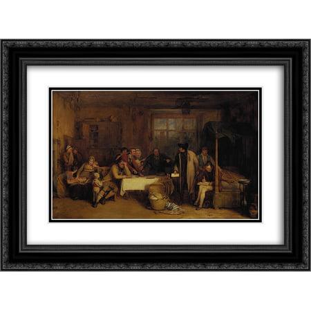 David Wilkie 2X Matted 24X18 Black Ornate Framed Art Print Distraining For Rent