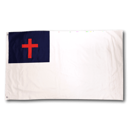3x5 Foot Christian Flag Double Stitched  with Brass Grommets   3 by 5 Foot Premium Indoor Outdoor Polyester (Christian Flags And Banners)
