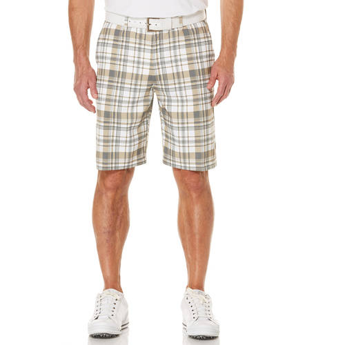 Ben Hogan Big Men's Performance Flat Front Printed Texture Active Flex Golf Short