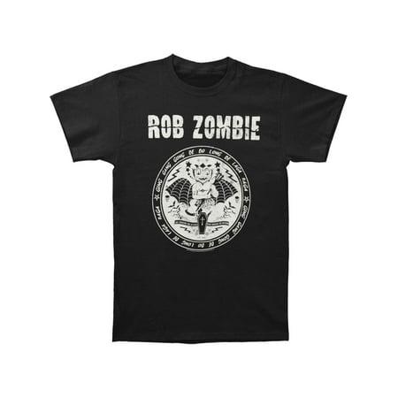 Rob Zombie Men's  Devil Seal T-shirt - Rob Zombie Halloween Cast