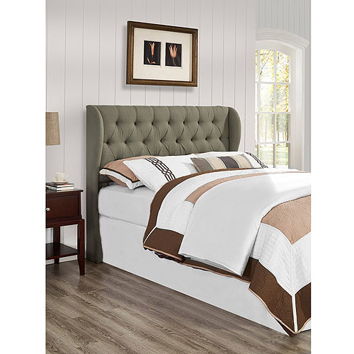 York Full/Queen Tufted Wing Headboard, Grey