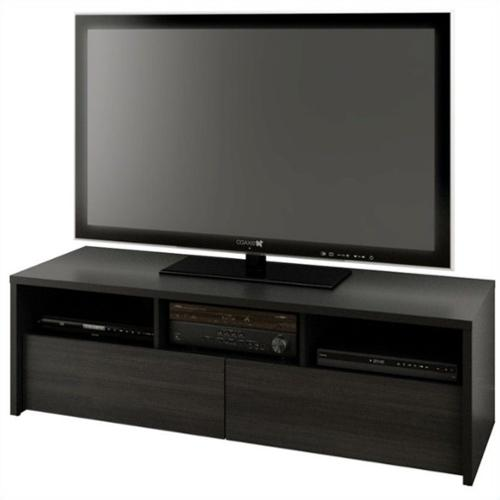Nexera Serenit-T Modular Design Your Own Storage and Entertainment System - 60 in. TV Stand - Black
