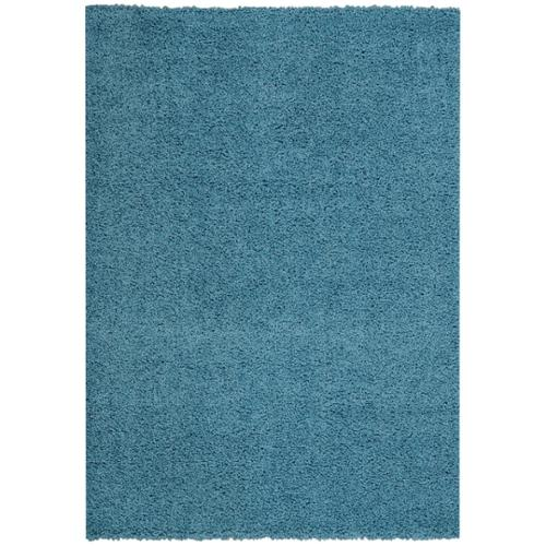 Rugnur Maxy Home French Blue Shag Accent Rug Doormat Single Solid Color (1'8 x 2'7) by Overstock