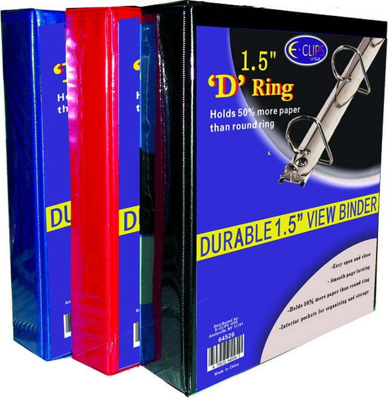"Ddi Binder - D Ring - 1.5"" - Vinyl Assorted Colors (pack Of 36)"