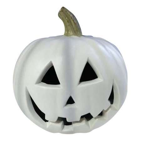 Gemmy 220403 Halloween Blow Mold Lighted Pumpkin, White](Punkin Halloween)